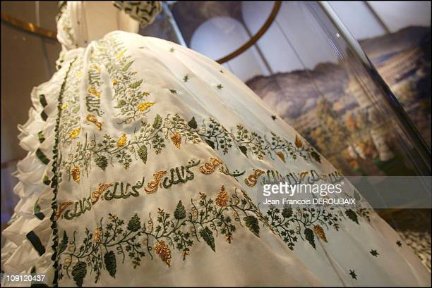Museum Is Devoted To Empress Sissi In Hofburg Palace On May 1 2004 In Vienna Austria The Dress Believed To Have Been Worn By Sissi 'On The Eve Of Her...