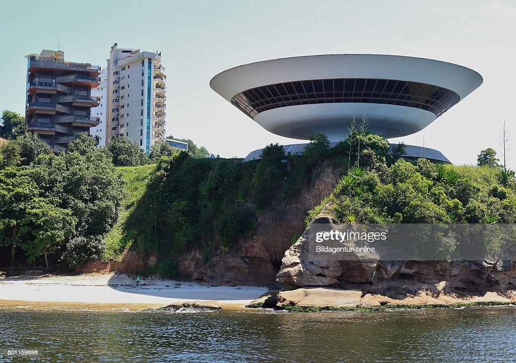 Museum Museu de Arte Contemporanea de Niteroi, museum of modern art, Rio de Janeiro, Brazil.