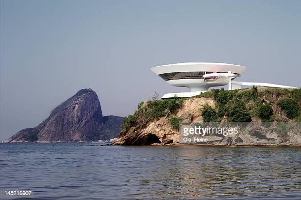 Museum of contemporary art Niteroi designed by architect Oscar Niemeyer photographed on September 23 2011 in Rio de Janeiro Brazil