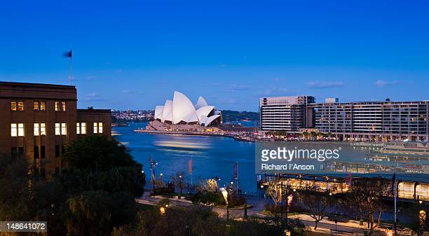 Museum of Contemporary Art, Opera House and Bennelong Apartments at Circular Quay.