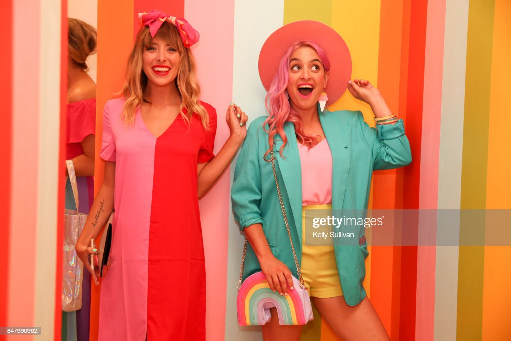Museum of Ice Cream visitors pose for a photo during the opening party on September 15, 2017 in San Francisco, California.