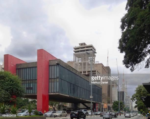 Museum of Modern Art of São Paulo on overcast day