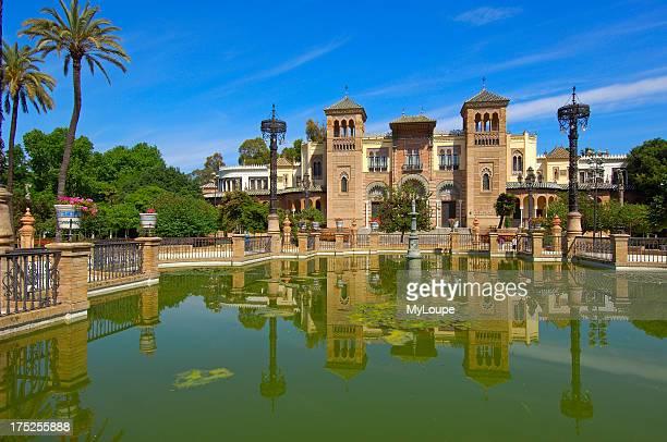 Museum of Popular Arts Customs Mudejar Pavilion in Maria Luisa Park Seville Andalusia Spain