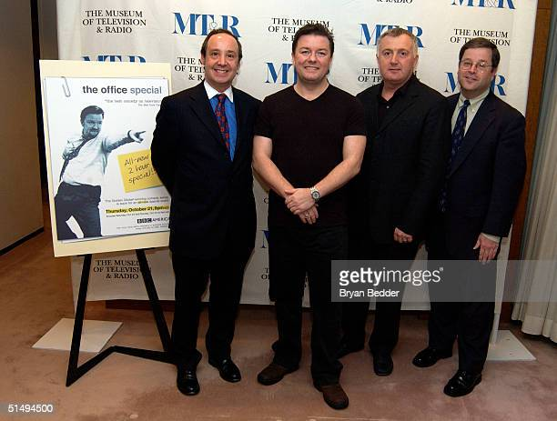 Museum of Television and Radio President Stuart Brothman actor/writer Ricky Gervais President and CEO of BBC America Bill Hilary and Senior...