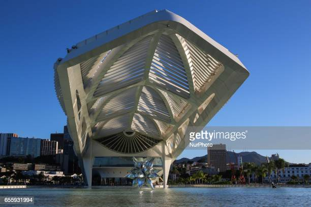 Museum of Tomorrow in the port region of the city in day of blue sky with few clouds Early fall in Rio de Janeiro Brazil is marked by a sunny day...