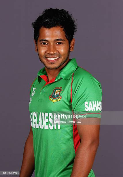 Mushfiqur Rahim Captain of Bangladesh pictured during a Bangladesh Portrait session ahead of the ICC T20 world Cup at the Taj Samudra Hote on...