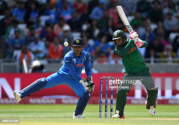 Mushfiqur Rahim of Bangladesh bats during the ICC Champions Trophy Semi Final between Bangladesh and India at Edgbaston on June 15 2017 in Birmingham...