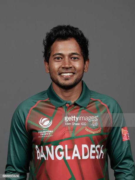 Mushfiqur Rahim of Bangladesh poses for a picture during the Bangladesh Portrait Session for the ICC Champions Trophy at Grand Hyatt on May 26 2017...