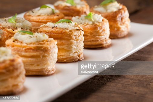Mushroom puree vol au vent : Stock Photo