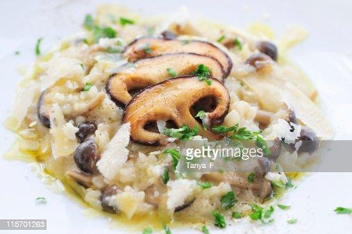 Mushrooms Risotto Close-Up