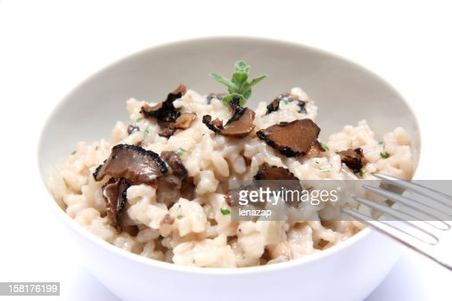Mushrooms risotto with truffles