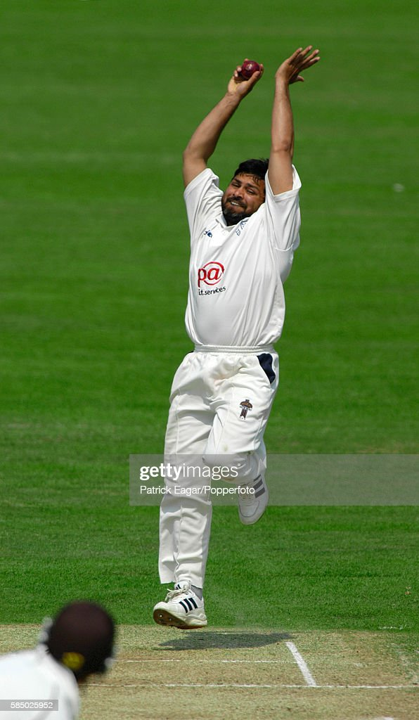 Mushtaq Ahmed bowling for Sussex during the Frizzell County Championship match between Surrey and Sussex at The Oval London 31st May 2003