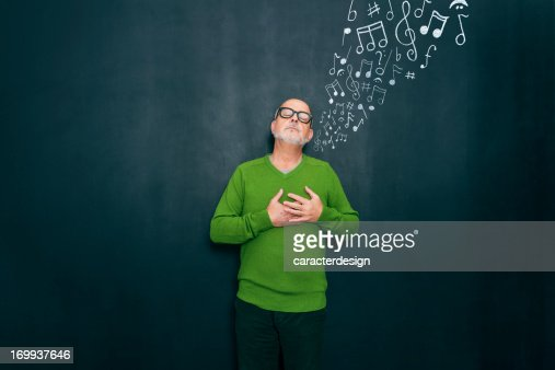 Music and emotions : Stock Photo