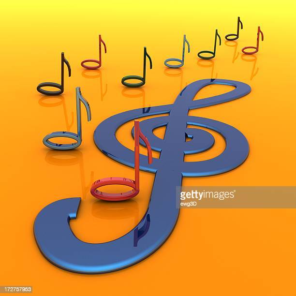 Music and Treble Clef