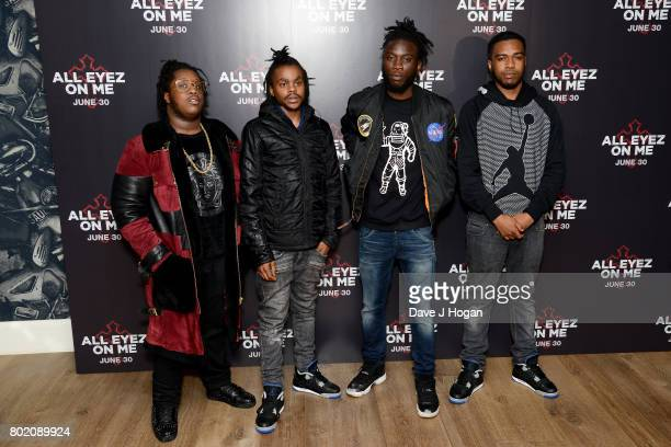 Music artist 67 attend the 'All Eyez On Me' UK Film Premiere on June 27 2017 in London England
