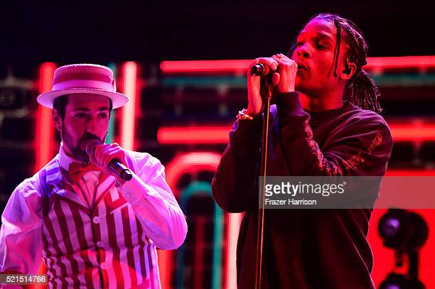 Music artist A$AP Rocky performs onstage during day 1 of the 2016 Coachella Valley Music Arts Festival Weekend 1 at the Empire Polo Club on April 15...
