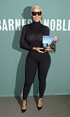 Music artist Amber Rose signs copies of her book 'How To Be A Bad Bitch' at Barnes Noble Tribeca on October 26 2015 in New York City
