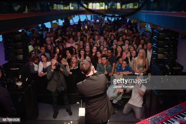 Music artist Calum Scott performs during 'Picnic Time Off' to celebrate the global launch of LEMON LEMON on the Hornblower Infinity yacht on May 24...