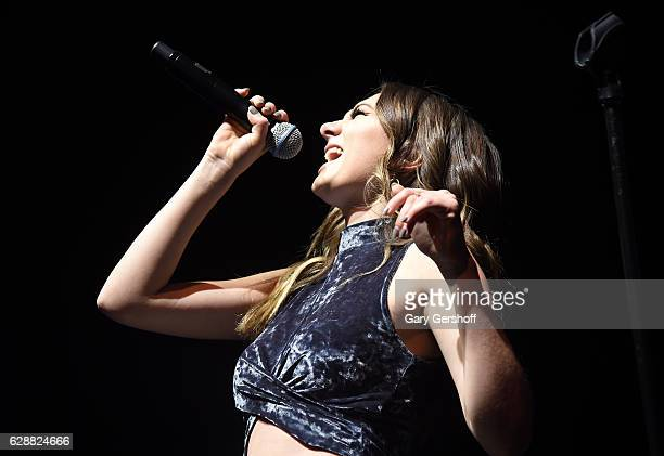 Music artist Daya performs on stage during Z100 CocaCola All Access Lounge at Z100's Jingle Ball 2016 Presented by Capital One preshow at Hammerstein...