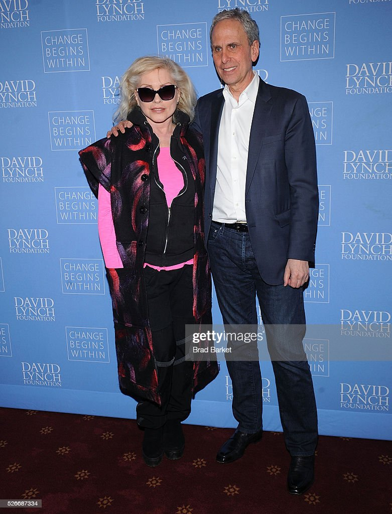 Music artist Debbie Harry and Bob Roth attend An Amazing Night Of Comedy: A David Lynch Foundation Benefit For Veterans With PTSD at New York City Center on April 30, 2016 in New York City.