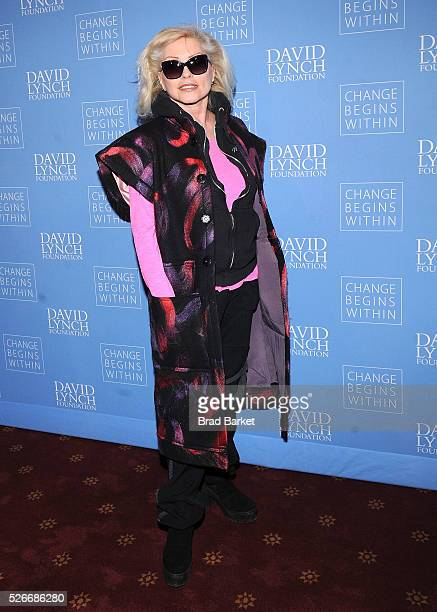 Music artist Debbie Harry attends An Amazing Night Of Comedy A David Lynch Foundation Benefit For Veterans With PTSD at New York City Center on April...