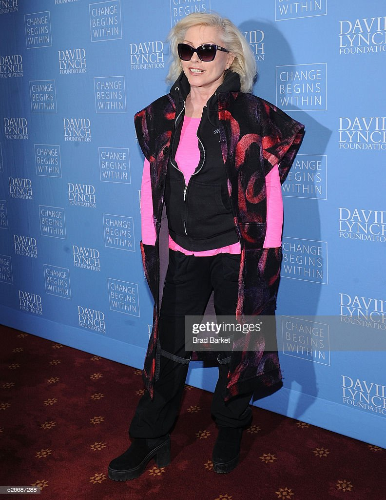 Music artist Debbie Harry attends An Amazing Night Of Comedy: A David Lynch Foundation Benefit For Veterans With PTSD at New York City Center on April 30, 2016 in New York City.
