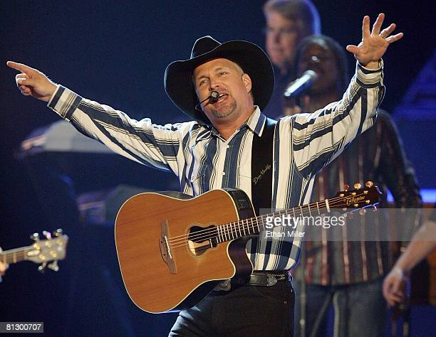 Music artist Garth Brooks performs during the 43rd annual Academy of Country Music Awards at the MGM Grand Garden Arena May 18 2008 in Las Vegas...