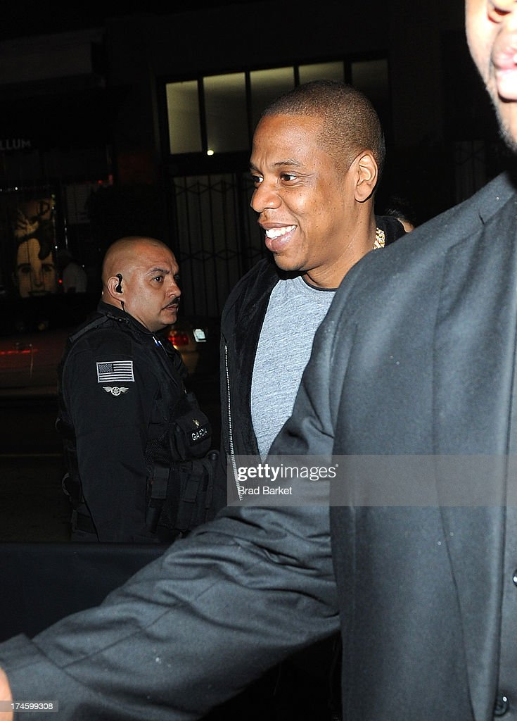 Music artist <a gi-track='captionPersonalityLinkClicked' href=/galleries/search?phrase=Jay-Z&family=editorial&specificpeople=201664 ng-click='$event.stopPropagation()'>Jay-Z</a> attends the After Party at Sound Night club on July 27, 2013 in New York City.