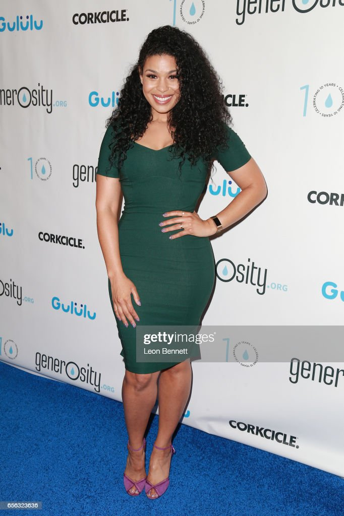 Music artist Jordin Sparks arrives at the Generosity.org Fundraiser For World Water Day at the Montage Hotel on March 21, 2017 in Beverly Hills, California.