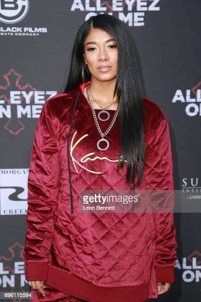 Music artist Mila J attends the premiere of Lionsgate's 'All Eyez On Me' at the Westwood Village Theatres on June 14 2017 in Los Angeles California