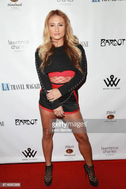 Music artist Montana Tucker attends the Los Angeles Travel Magazine Spring Issue Launch at Bardot on April 28 2017 in Hollywood California