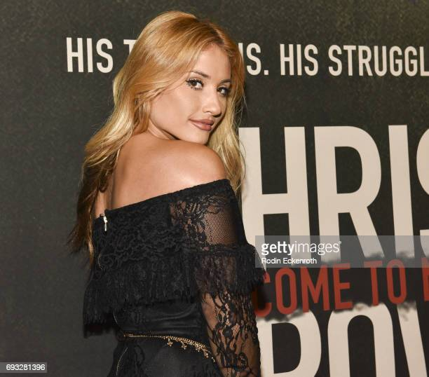 Music artist Montana Tucker attends the premiere of 'Chris Brown Welcome to My Life' at Regal LA Live Stadium 14 on June 6 2017 in Los Angeles...
