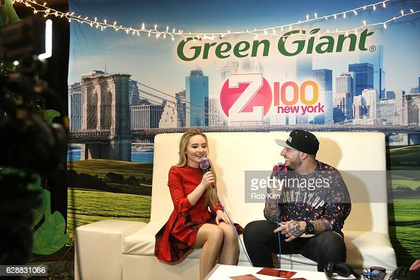 Music artist Sabrina Carpenter and Mo' Bounce speak during Z100 CocaCola All Access Lounge at Z100's Jingle Ball 2016 Presented by Capital One...