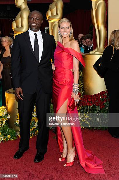Music artist Seal and his wife model Heidi Klum arrives at the 81st Annual Academy Awards held at Kodak Theatre on February 22 2009 in Los Angeles...