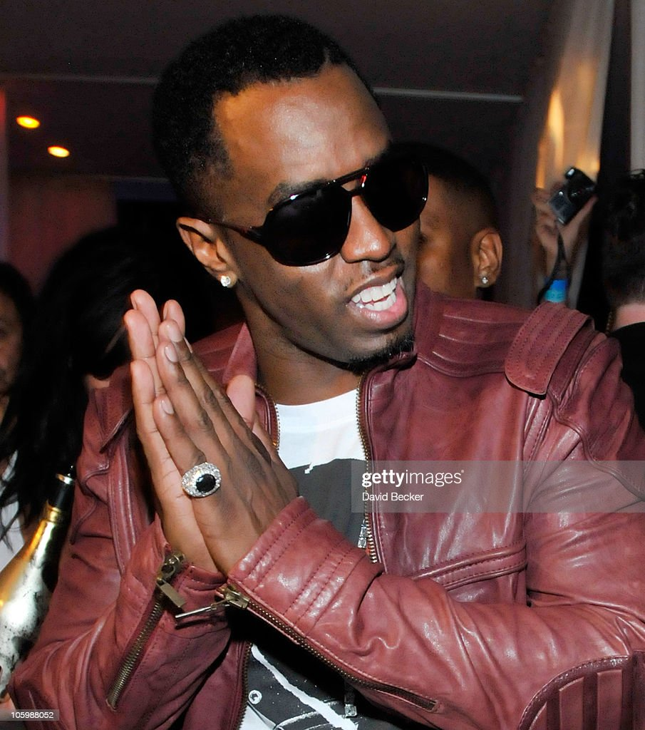 Music artist Sean 'Diddy' Combs appears at the Pure Nightclub at Caesars Palace early October 24 2010 in Las Vegas Nevada