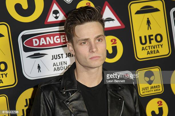 Music artist Spencer Sutherland arrives at the Just Jared's Annual Halloween Party Arrivals at Tenants of the Trees on October 30 2016 in Los Angeles...