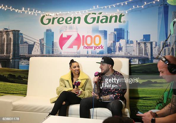 Music artist Tinashe and Mo' Bounce speak at Z100 CocaCola All Access Lounge at Z100's Jingle Ball 2016 Presented by Capital One preshow at...