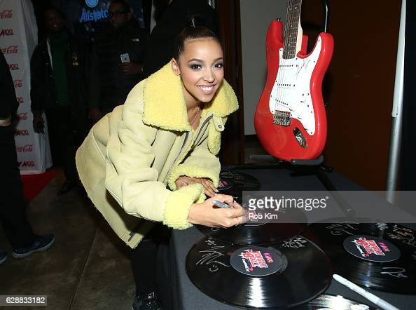 Music artist Tinashe attends Z100 CocaCola All Access Lounge at Z100's Jingle Ball 2016 Presented by Capital One preshow at Hammerstein Ballroom on...