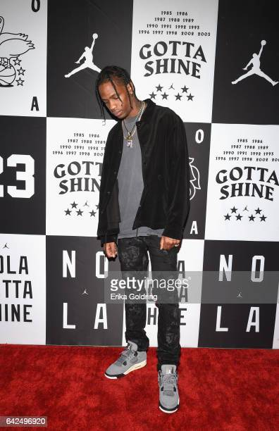 Music artist Travis Scott attends Jordan Brand 2017 AllStar Party at Seven Three Distilling Co on February 17 2017 in New Orleans Louisiana