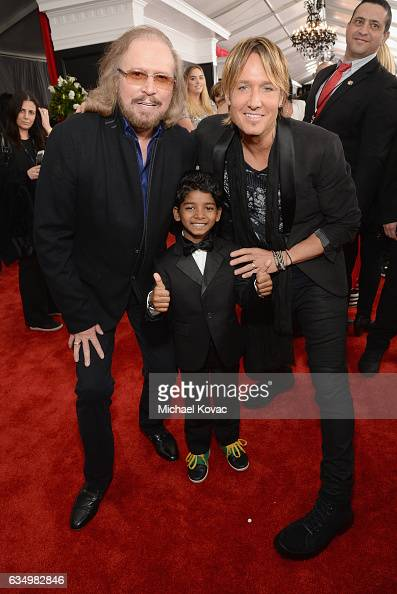 Music artists Barry Gibb and Keith Urban attend The 59th GRAMMY Awards at STAPLES Center on February 12 2017 in Los Angeles California
