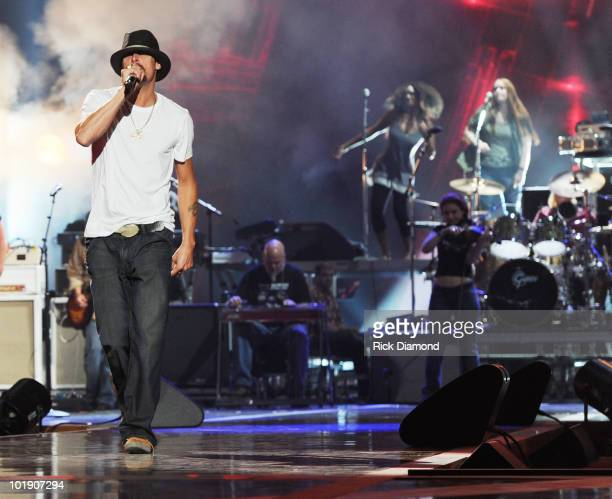Music Awards Host/Recording Artist Kid Rock at 2010 CMT Awards Rehearsals at Bridgestone Arena on June 8 2010 in Nashville Tennessee