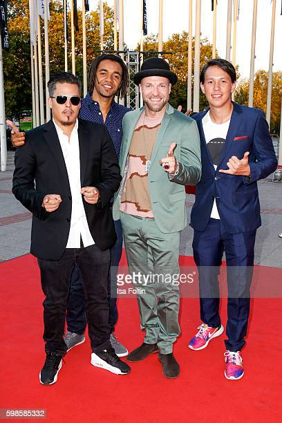 Music band Culcha Candela attend the IFA 2016 opening gala on September 1 2016 in Berlin Germany