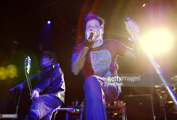 Music band Orgy performs at Irving Plaza on May 14 2004 in New York City
