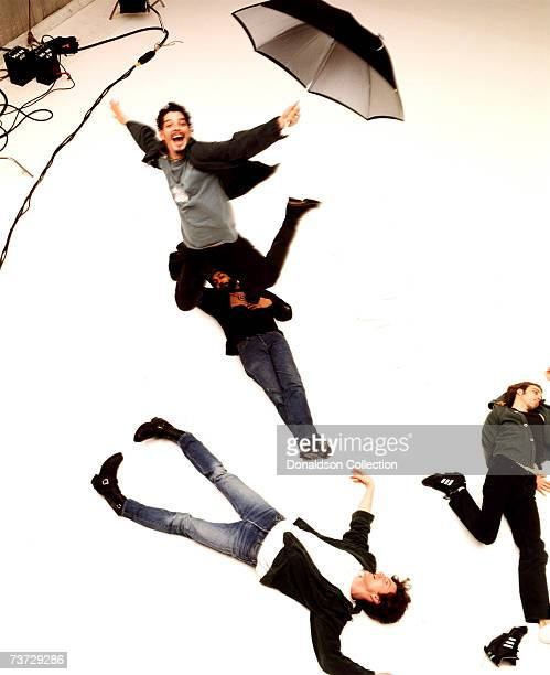 Music band Soundgarden members Chris Cornell Kim Thayil Matt Cameron and Ben Shepherd pose during a photoshoot held in 1997 in Seattle Washington