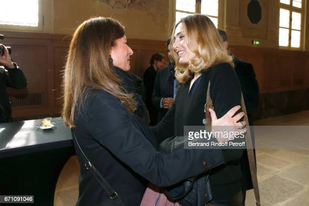 Music Booking Orchestra of the Opera Anne Gravoin and Stage Director of the Opera Julie Gayet attend the 'Opera En Plein Air 2017' Press Conference...