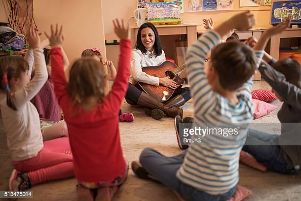 Music class in a preschool!