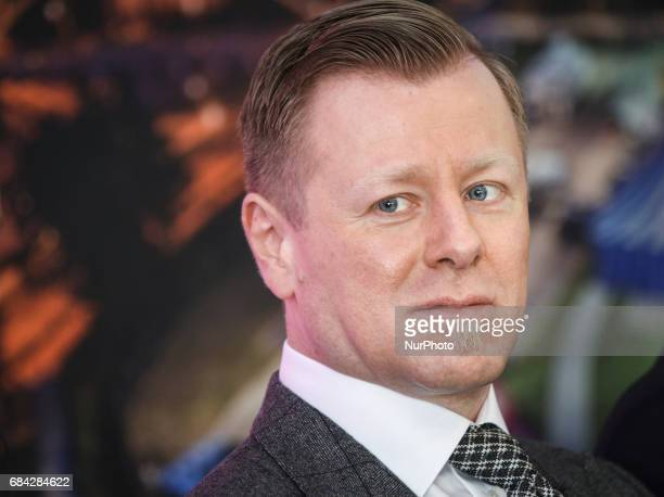 Music composer Abel Korzeniowski during the opening press conference of 10 edition of the annual Film Music Festival in Krakow Poland 17 May 2017...