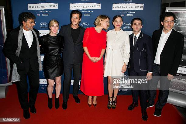 Music composer Gabriel Yared actors Gaspard Ulliel Lea Seydoux Marion Cotillard and director Xavier Dolan attend the 'Juste la Fin du Monde' Premiere...