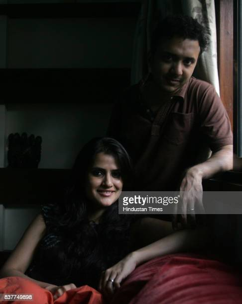 Music composer Ram Sampath at his Khar residence with his wife Sona