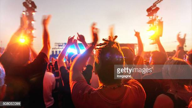 Music concert and crowd